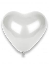 50 Globos corazones blancos 32 cm