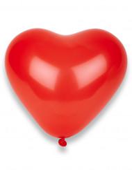 50 Globos corazones rojos 32 cm