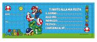 20 Tarjetas de invitación Mario™