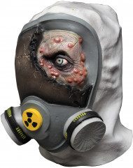 Máscara de zombie tóxico adulto