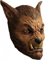 Máscara hombre lobo marrón