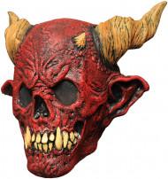Máscara esqueleto muerte rojo