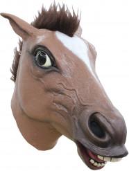 Máscara de caballo marrón