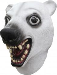 Máscara oso polar blanco