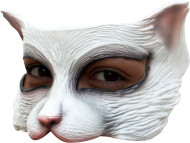 Semi máscara gato blanco
