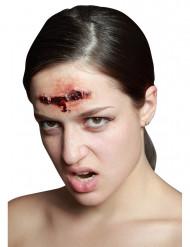 Herida falsa grapada