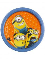 8 platos de cartón Los Minions™ 23 cm