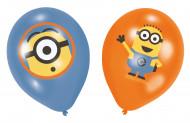 6 globos de látex Los Minions