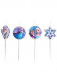 4 Velas de cumpleaños Frozen™ 9 cm