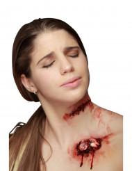 Corte falso con puntos de sutura