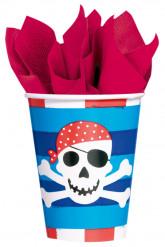 8 Vasos de cartón Sonrisa pirata