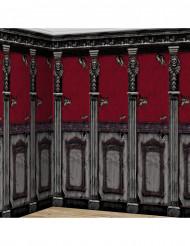 2 decoraciones murales castillos góticos