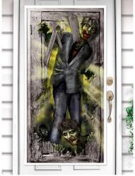 Decoración de puerta zombie