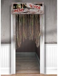 Decoración puerta zombie