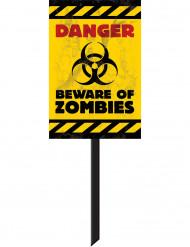 Cartel señalización zombies