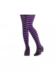 Medias violeta/negro niño