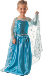Disfraz de princesa del hielo azul niña