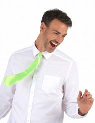 Corbata verde fluorescente adulto