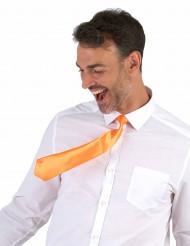 Corbata naranja fluorescente adulto