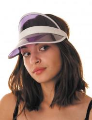Visera jugador de póker violeta adulto