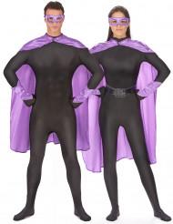 Kit superhéroes violeta adulto