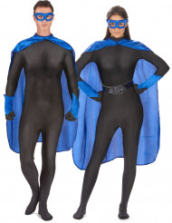 Kit accesorios superhéroe azul adulto