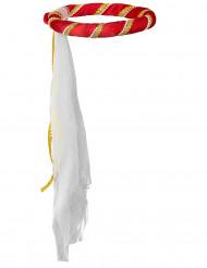 Diadema medieval roja niña