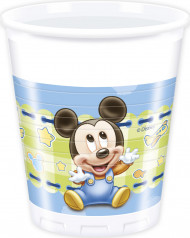 8 Vasos Bebé Mickey Mouse™ 20 cl