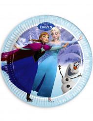 8 Platos azules Frozen™ 23 cm