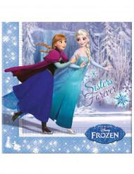 20 Servilletas papel Frozen™ 33x33 cm