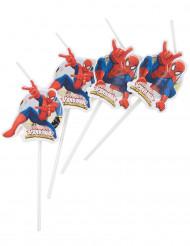 6 Pajitas viñetas Spiderman™