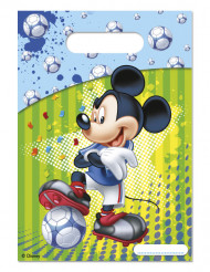 6 Bolsas regalos Mickey Mouse™ fútbol 16.5 x 23 cm