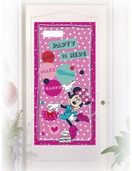 Decoración de puerta rosa Minnie™ 76x152 cm