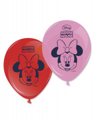 8 Globos estampados Minnie™ 28 cm