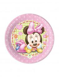 8 Platos pequeños Bébé Minnie™ 20 cm