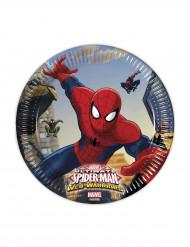 8 Platos cartón Spiderman™ 20 cm