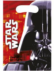 6 Bolsas para regalos Dark Vador Star Wars™ 16.5 x 23 cm