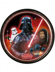 8 Platos cartón Dark Vador Star Wars™ 23 cm