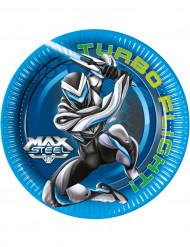 8 Platos Max Steel™ 23 cm