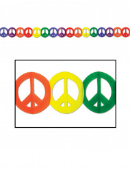 Guirnalda multicolor papel Hippie Peace