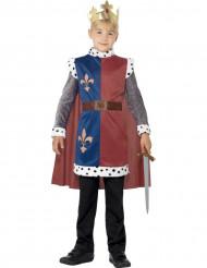 Disfraz rey medieval niño