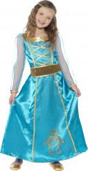Disfraz de princesa medieval azul