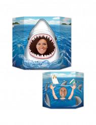Photocall cabeza tiburón