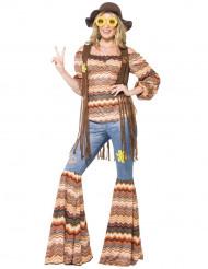 Disfraz hippie años 60 mujer