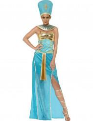 Disfraz reina egipcia azul mujer