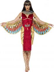 Disfraz diosa egipcia rojo mujer