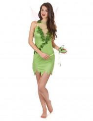 Disfraz de hada mágica verde sexy mujer