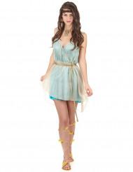Disfraz reina griega azul sexy mujer