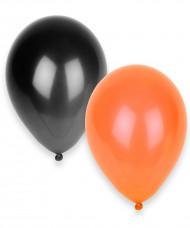 100 globos naranja y negro Halloween