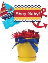 3 Palillos decorativos mi pequeño marinero